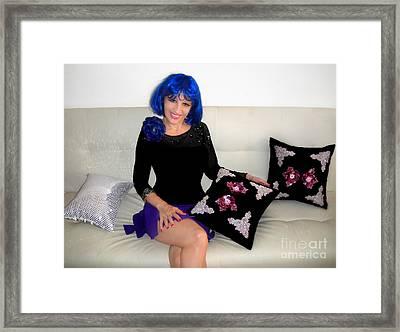 Gothic Fashion Lolita. Sofia Goldberg Framed Print by Sofia Metal Queen