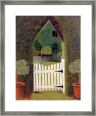 Gothic Gate Framed Print by Jan Amiss