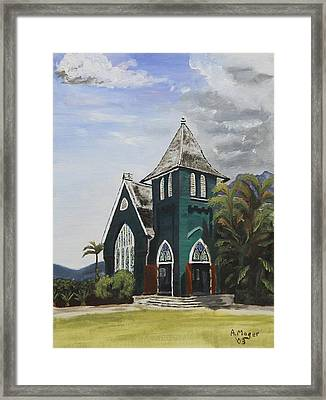 Gothic Green I Framed Print