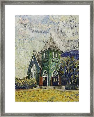 Gothic Green II Framed Print