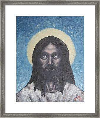 Framed Print featuring the painting Gothic Jesus by Michael  TMAD Finney