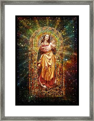 Gothic Madonna And The Child Framed Print