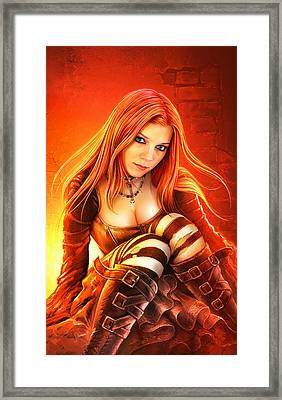 Gothic Nights Framed Print by Shannon Maer