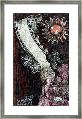 Framed Print featuring the mixed media Gothic Punk Goddess by Genevieve Esson