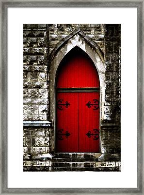 Gothic Red Door Memphis Church Framed Print