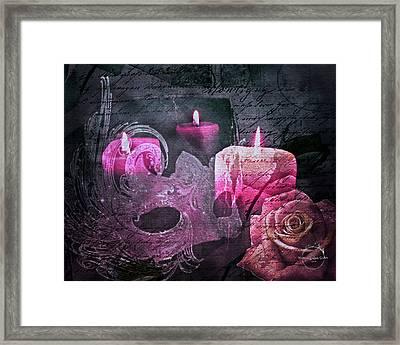 Gothic Romance Magic - Pink Framed Print