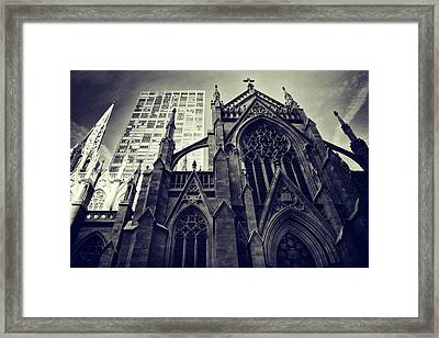 Framed Print featuring the photograph Gothic Perspectives by Jessica Jenney
