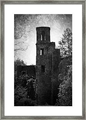 Gothic Tower At Blarney Castle Ireland Framed Print