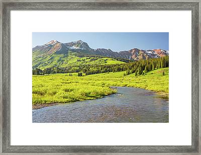 Gothic Valley - Early Evening Framed Print