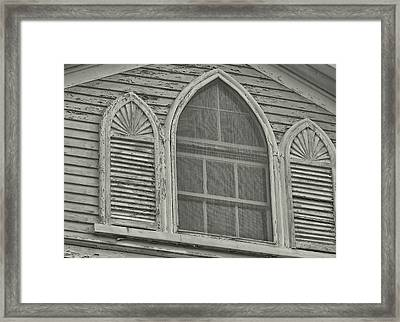 Nantucket Gothic Window  Framed Print by JAMART Photography