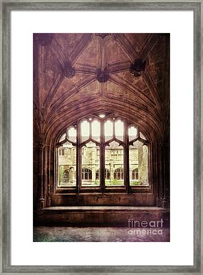 Framed Print featuring the photograph Gothic Window by Jill Battaglia