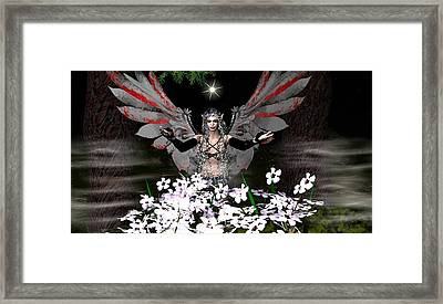 Gothick Fairy Framed Print by Eva Thomas