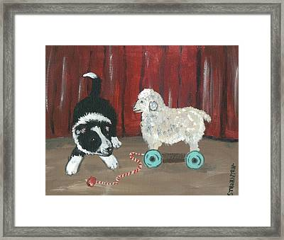 Gots Me A Sheepie Framed Print by Sue Ann Thornton