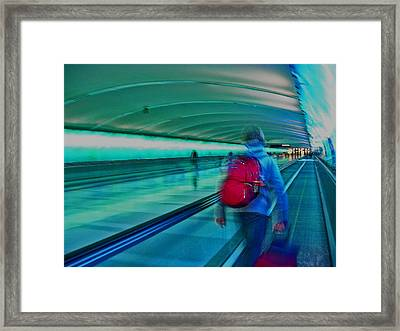 Gotta Catch My Plane Framed Print by Elizabeth Hoskinson