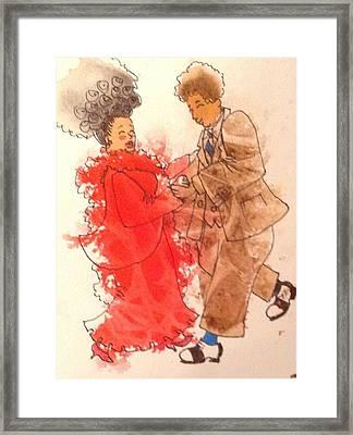 Gotta Dance Framed Print by Marilyn Jacobson