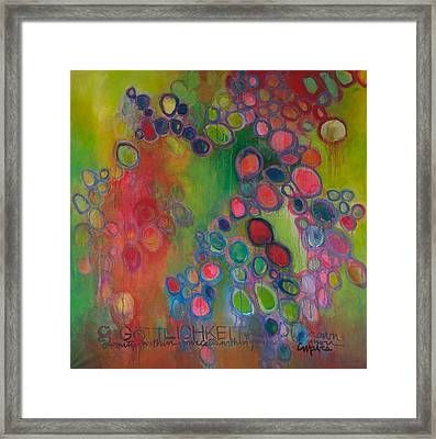 Framed Print featuring the painting Gottlichkeit by Laurie Maves ART