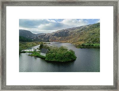 Gougane Barra From Above Framed Print by Michael Meade