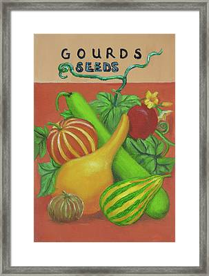 Gourd Orange Framed Print