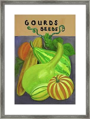 Gourd Purple Framed Print