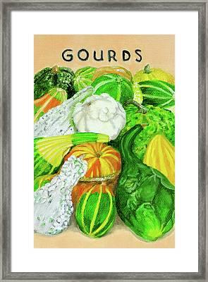 Gourd Seed Packet Framed Print