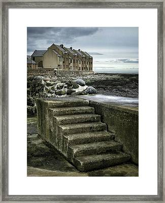 Gourdon Seafront Framed Print by Dave Bowman