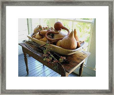Gourds In Bowl Framed Print