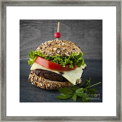 Gourmet Hamburger Framed Print