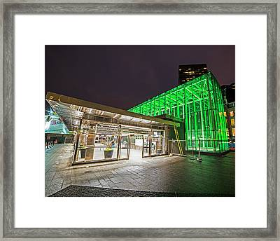 Goverment Center Boston Ma Framed Print by Toby McGuire