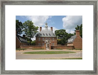 Governers Palace - Williamsburg Va Framed Print