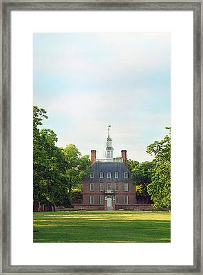 Governor Palace - Williamsburg Framed Print by Panos Trivoulides
