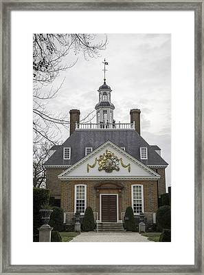 Governors Palace Back Door 01 Framed Print