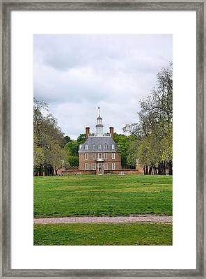 Governors Palace Colonial Williamsburg Framed Print by Todd Hostetter