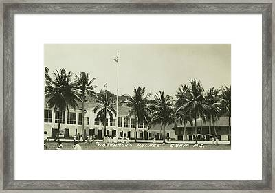Framed Print featuring the photograph Governors Palace Guam by eGuam Photo
