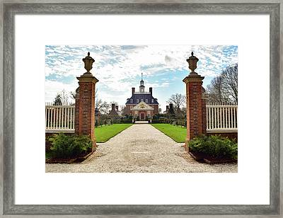 Governor's Palace In Williamsburg, Virginia Framed Print