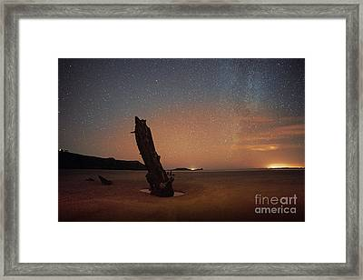 Gower Helvetia At Night  Framed Print