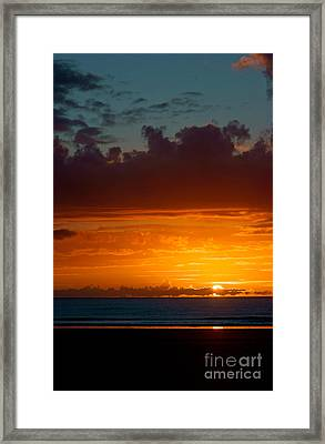 Gower Sundown Framed Print