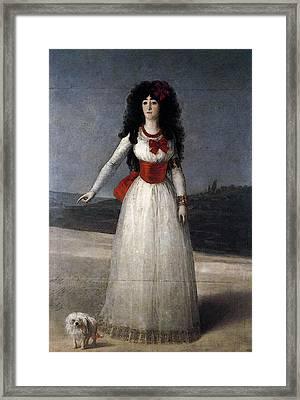 Goya Francisco De The Duchess Of Alba Framed Print
