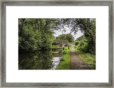 Goytre Wharf  Bridge Framed Print