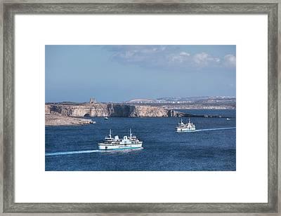 Gozo Ferries - Malta Framed Print by Joana Kruse