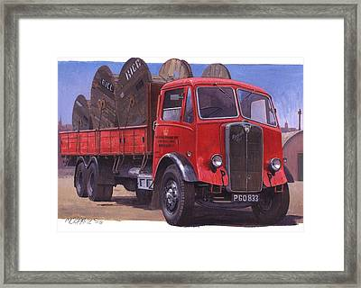 Gpo Maudslay Six-wheeler. Framed Print by Mike  Jeffries