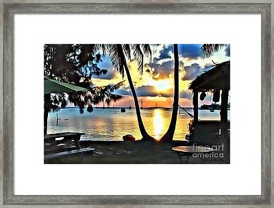 Grabbers Framed Print by Carey Chen