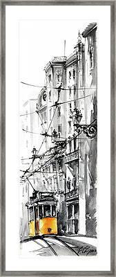 Graca Lisbon Tram Framed Print