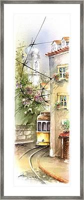 Graca Lisbon Tram View Framed Print