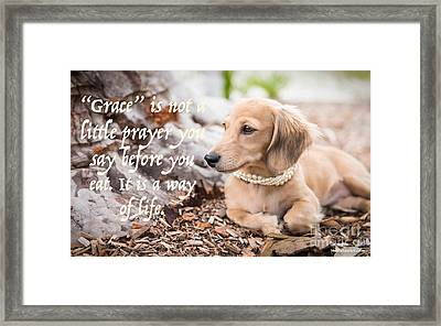 Grace- A Way Of Life Framed Print
