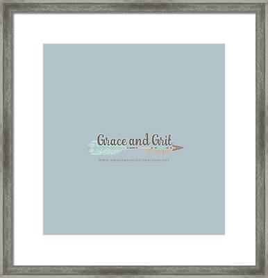 Grace And Grit Logo Framed Print by Elizabeth Taylor