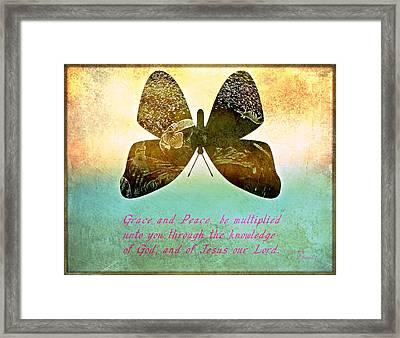Grace And Peace Framed Print by Sherry Gombert