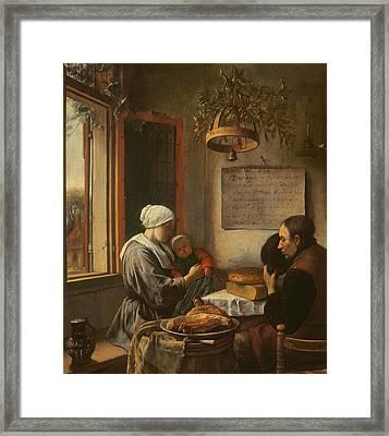Grace Before Meat Framed Print by Jan Havicksz Steen