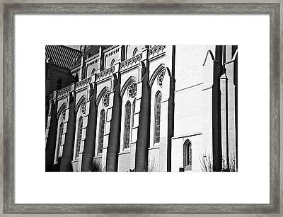 Grace Cathedral Framed Print by Larry Butterworth