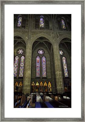 Grace Cathedral Stained Windows Framed Print
