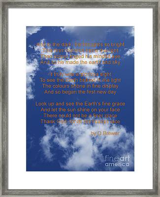 Grace Framed Print by Deborah Brewer